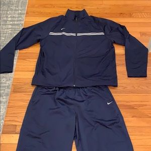 EUC Navy Nike track suit xl